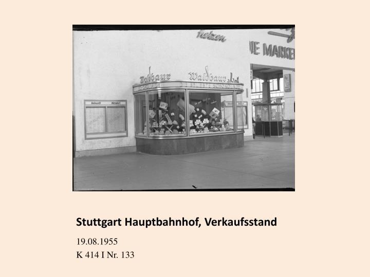 Stuttgart Hauptbahnhof, Verkaufsstand
