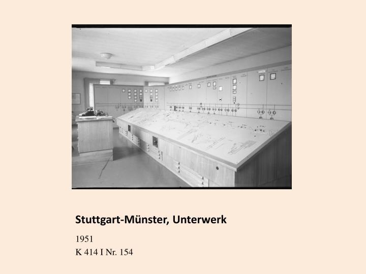 Stuttgart-Münster, Unterwerk