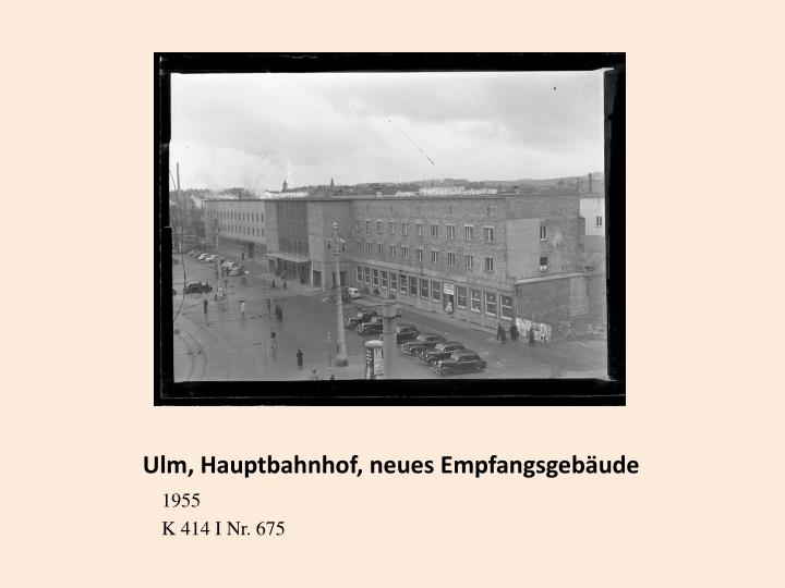 Ulm, Hauptbahnhof, neues Empfangsgebäude