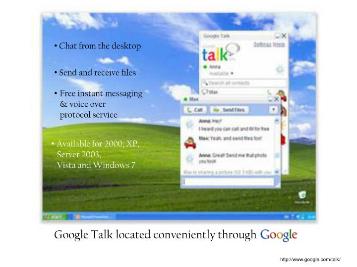 Chat from the desktop