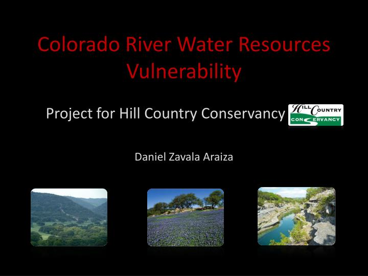 colorado river water resources vulnerability n.