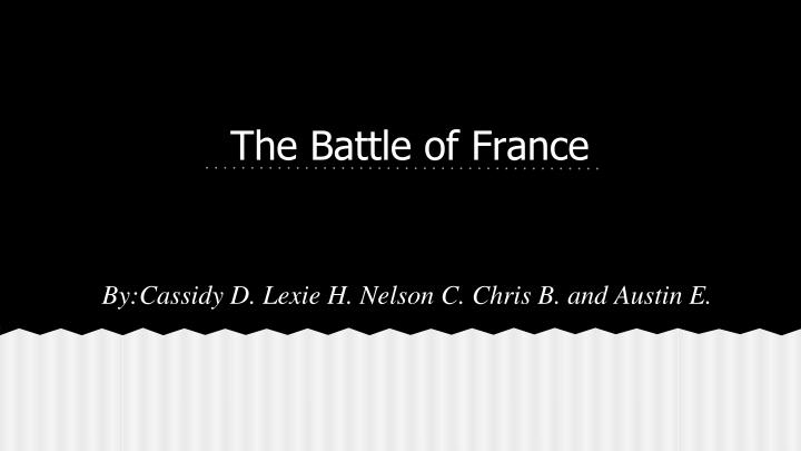the battle of france n.