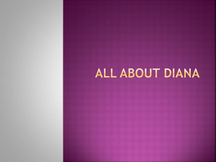 all about diana n.
