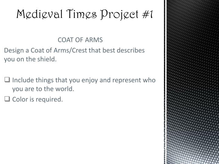 medieval times project 1 n.