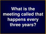 what is the meeting called that happens every three years