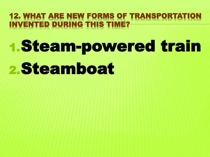 Steam-powered train