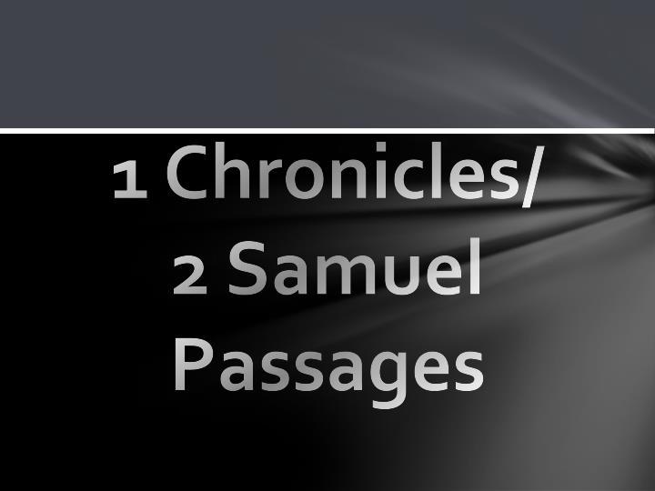 1 Chronicles/