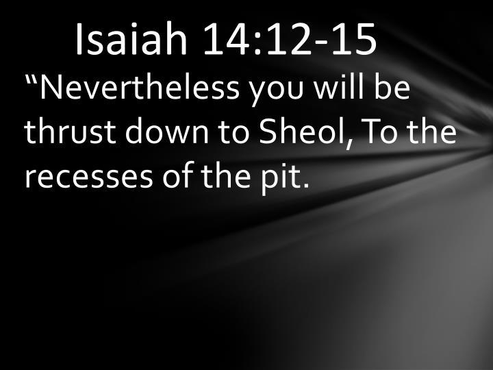 Isaiah 14:12-15