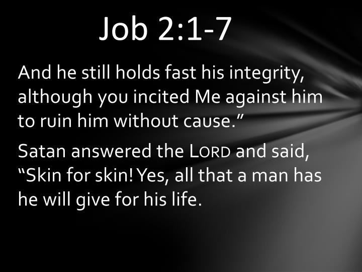 Job 2:1-7