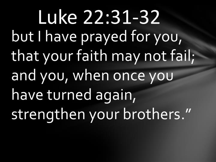 Luke 22:31-32