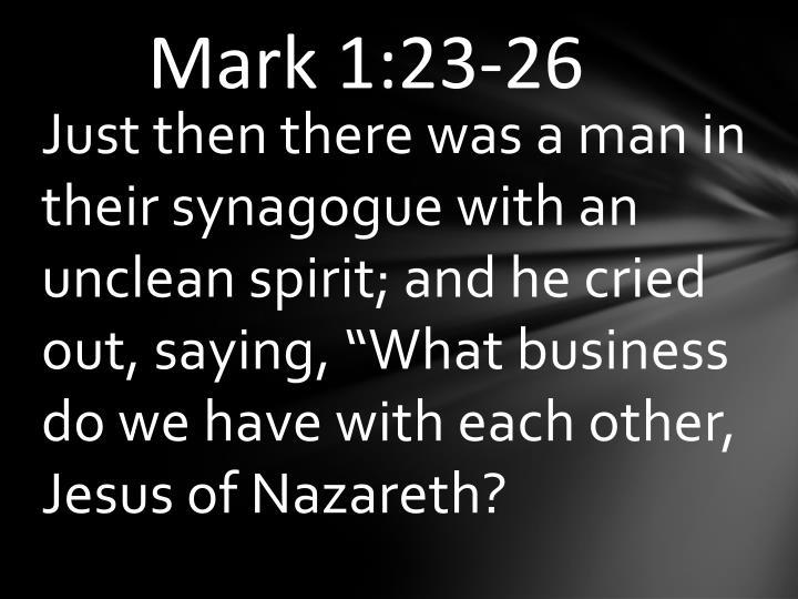 Mark 1:23-26