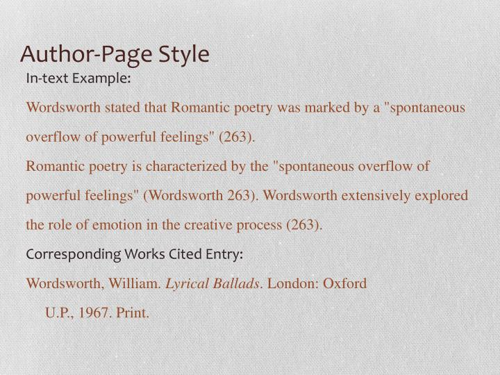 Author-Page Style