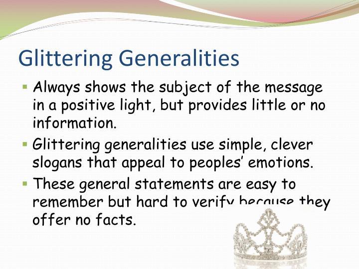 Glittering Generalities