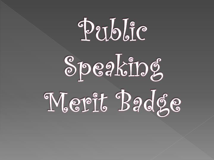 public speaking merit badge