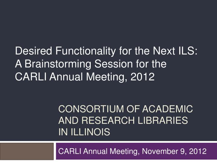 consortium of academic and research libraries in illinois n.