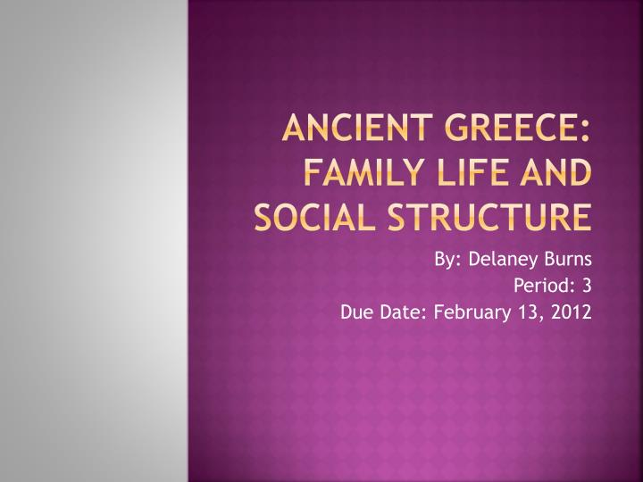 ancient greece family life and social structure n.
