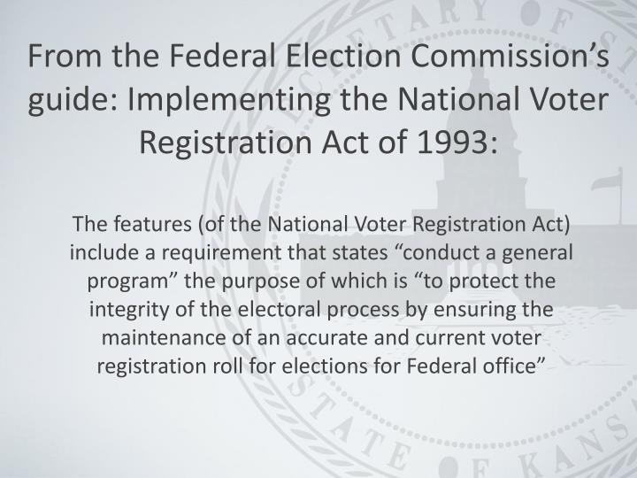 From the Federal Election Commission's
