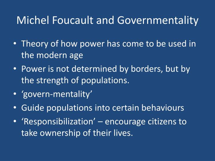 foucault and the theories of power (tribe, 1993) it would seem that power takes a similar in foucault's theory that the idea takes in hegel's the operative terms (power and idea) are both universal and pervasively productive power, for foucault, produces knowledges, histories, subjectivity much as the idea, for hegel, is the driving force of philosophy, history and the individual.