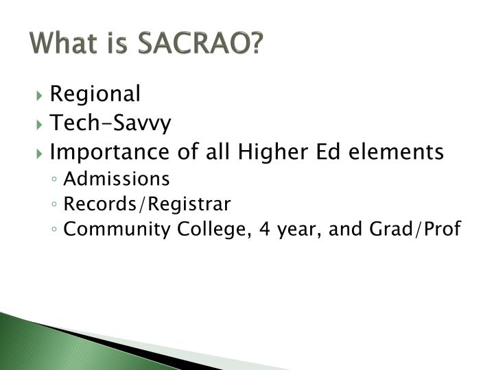 What is sacrao