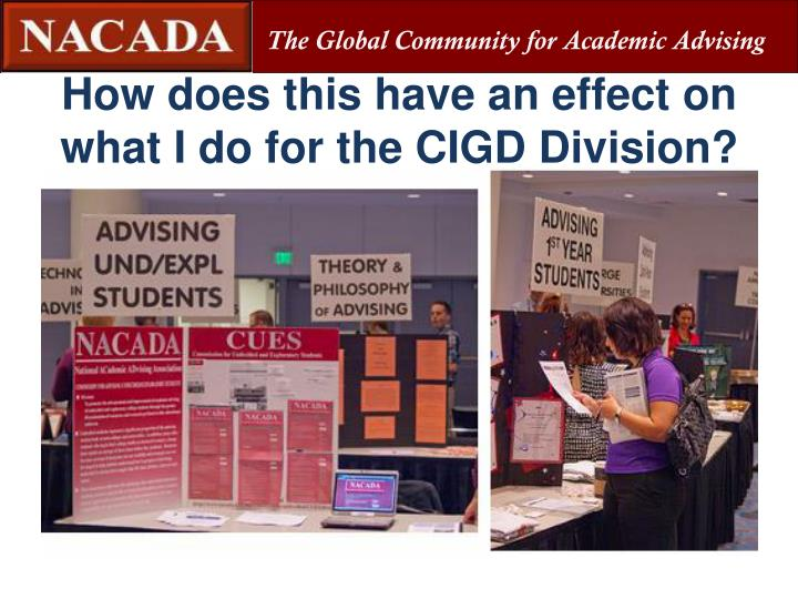 How does this have an effect on what I do for the CIGD Division?