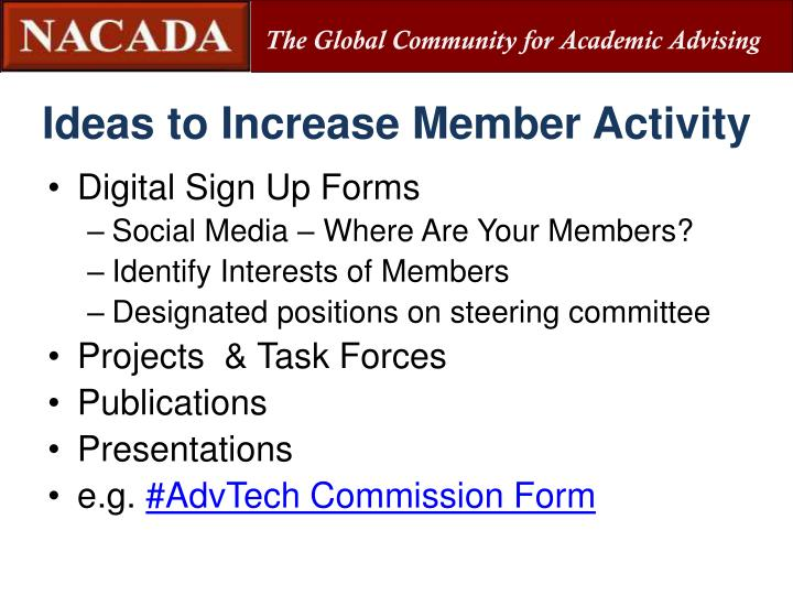 Ideas to Increase Member Activity