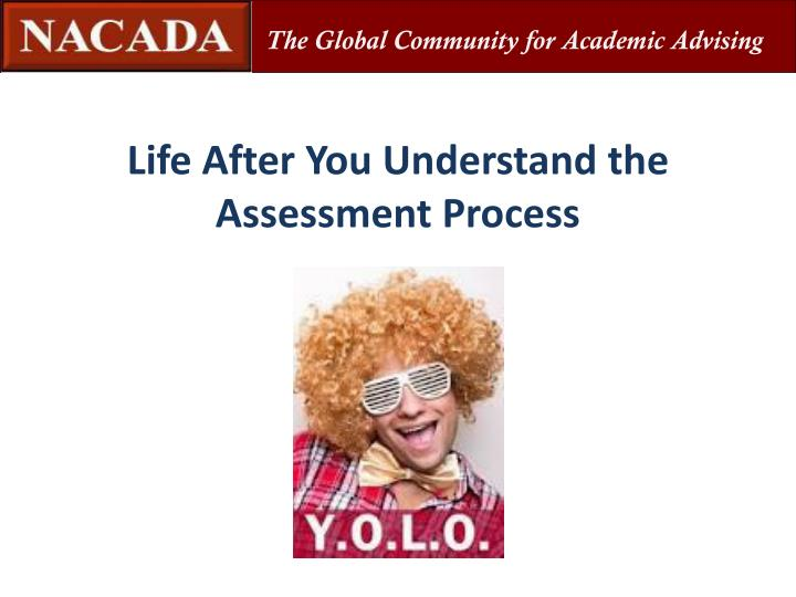 Life After You Understand the Assessment Process