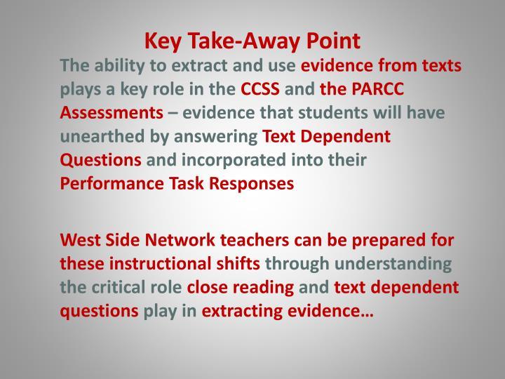 Key Take-Away Point