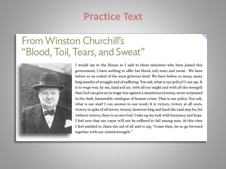 Practice Text