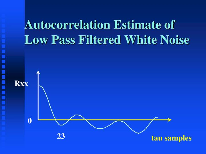 Autocorrelation Estimate of Low Pass Filtered White Noise