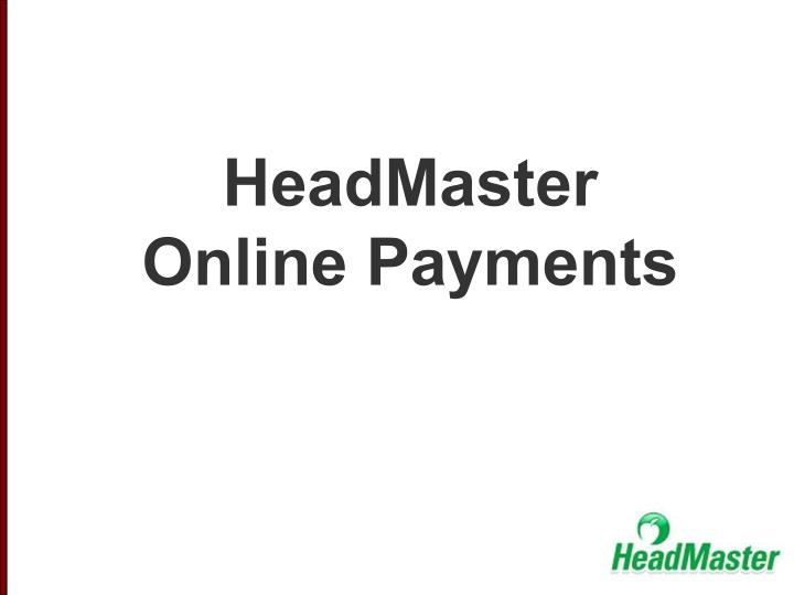 headmaster online payments n.
