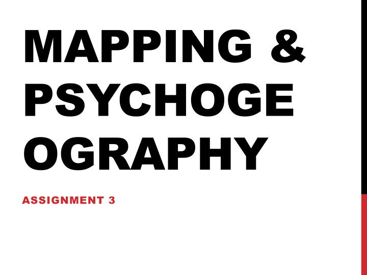 mapping psychogeography n.