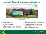 how ac uses linkedin careers