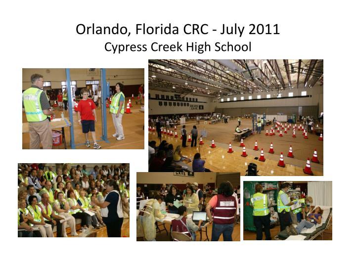 Orlando, Florida CRC - July 2011