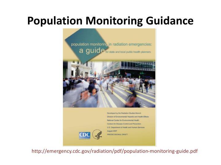 Population Monitoring Guidance