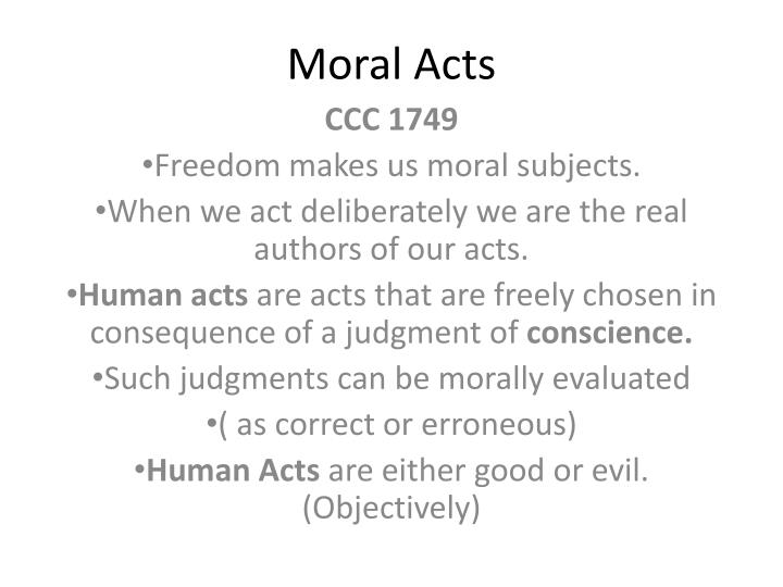 Moral acts