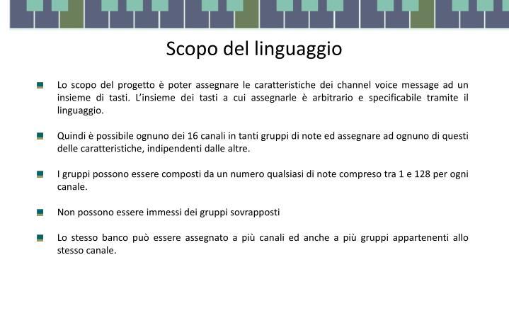 Scopo del linguaggio