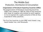 the middle east production distribution consumption13