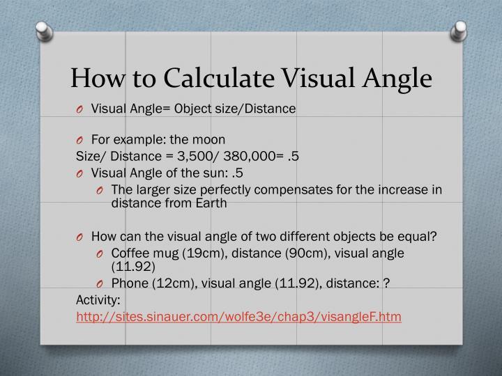 How to Calculate Visual Angle