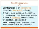 panel co integration