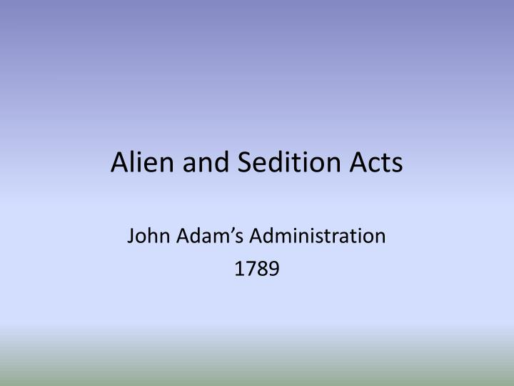 alien and sedition acts n.