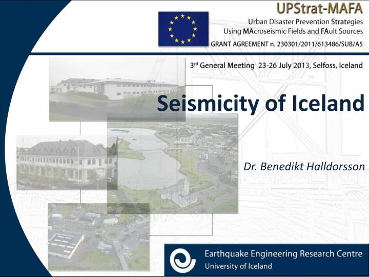 seismicity of iceland n.