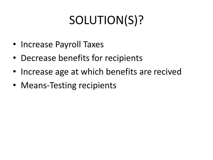 SOLUTION(S)?