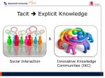 tacit e xplicit knowledge