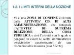 1 2 i limiti interni della nozione