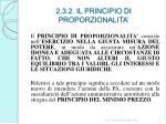 2 3 2 il principio di proporzionalita