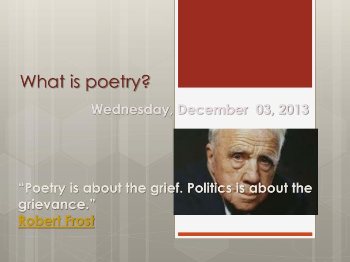 what is poetry n.