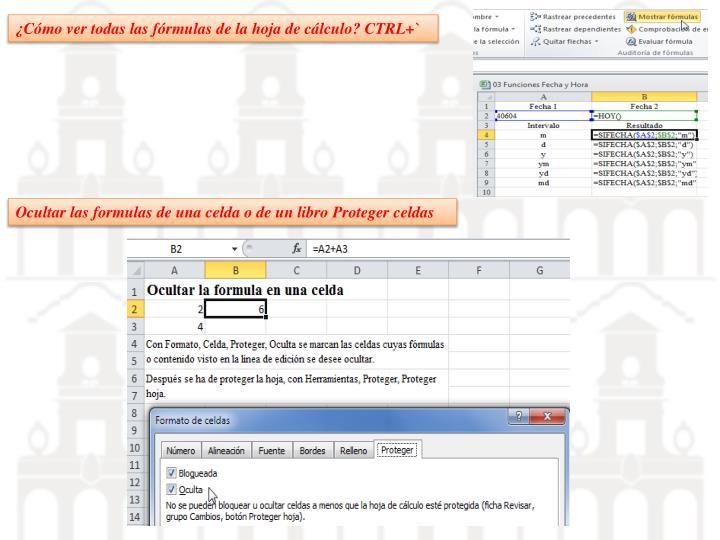 ¿Cómo ver todas las fórmulas de la hoja de cálculo? CTRL+`