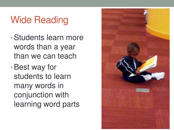 Wide Reading