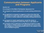 communication between applicants and programs1