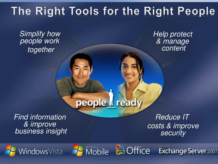 The Right Tools for the Right People